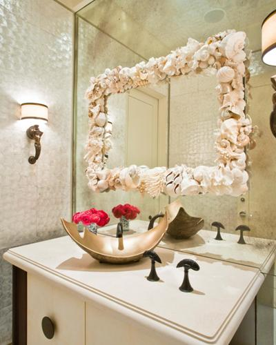 how to decorate plain bathroom mirror decoratingspecial 18063