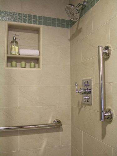 how to install shower grab bars on tile