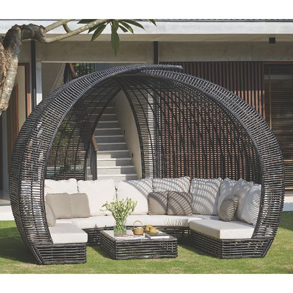 Skyline Design, Sparta,black, Wicker, Outdoor, Sofa ... on Sparta Outdoor Living id=60629
