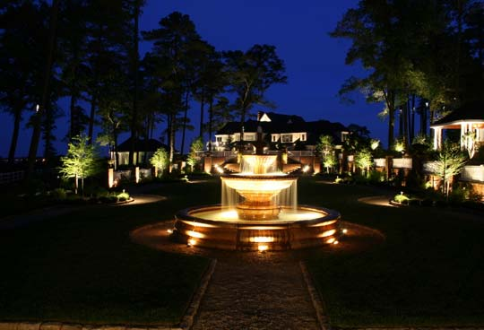 Preferred Properties Landscaping Michael Gotowala Outdoor Fountain Lighting
