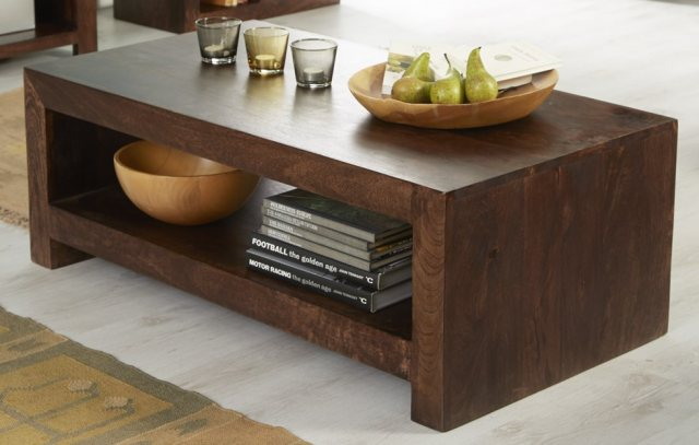 toko large coffee table dark mango wood