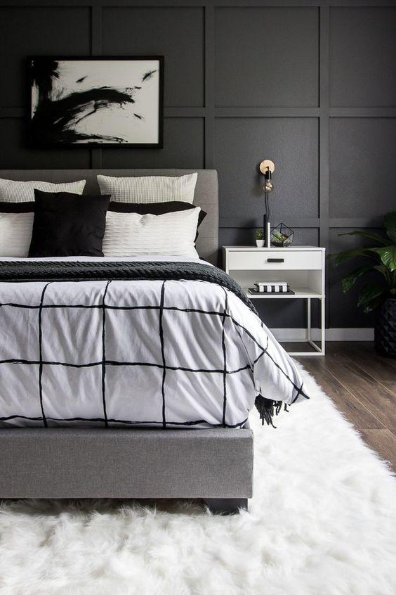 Beautiful Black White Bedroom Ideas Home Inside