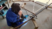 David learning to weld