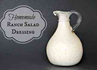 Homemade Ranch Salad Dressing