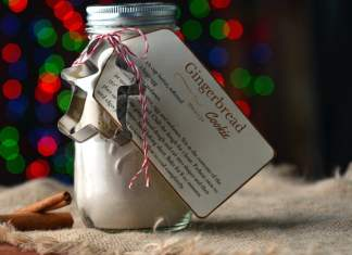 Gingerbread Cookie Gift Jar
