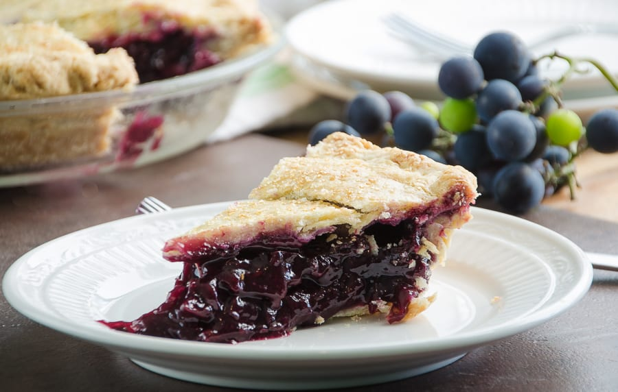 Concord Grape Pie