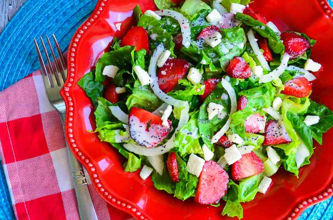 Strawberry and Onion Salad with Poppyseed Dressing