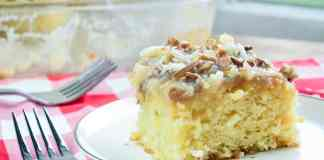 Do Nothing Cake Recipe Pineapple cake with Coconut Pecan Topping