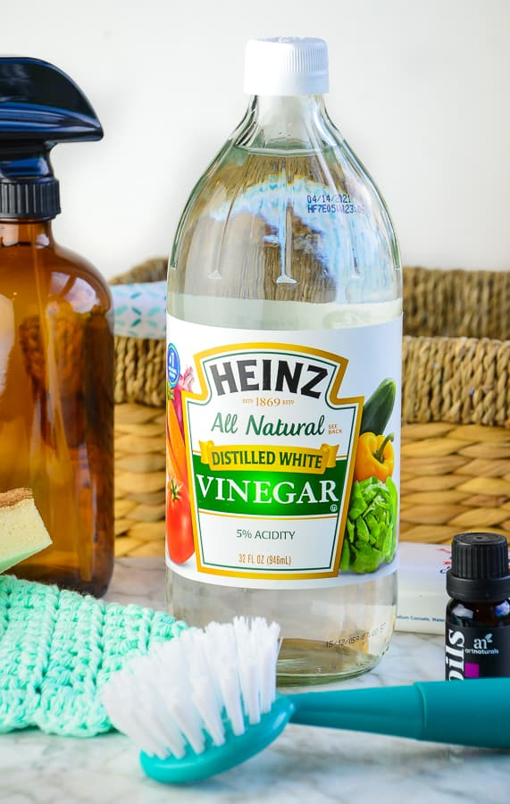 Distilled Vinegar is a great disinfectant, it also acts as a deodorizer and effectively cuts grease.