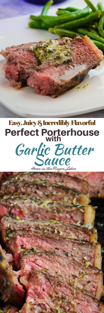These tender and juicy Porterhouse steak are perfectly seared in a cast iron skillet and finished in the oven.