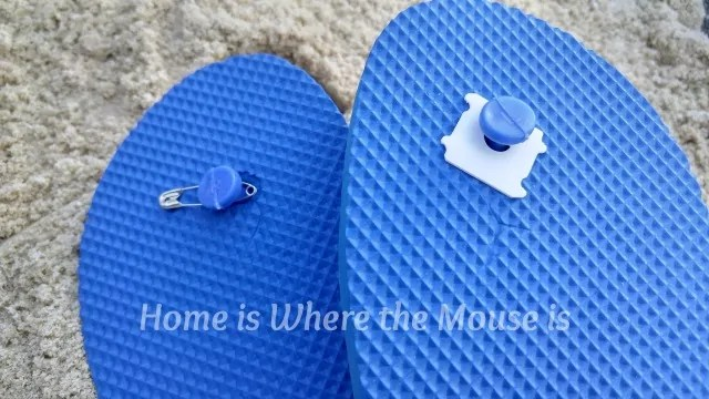 Fix a broken Flip Flop with a bread tag or safety pin