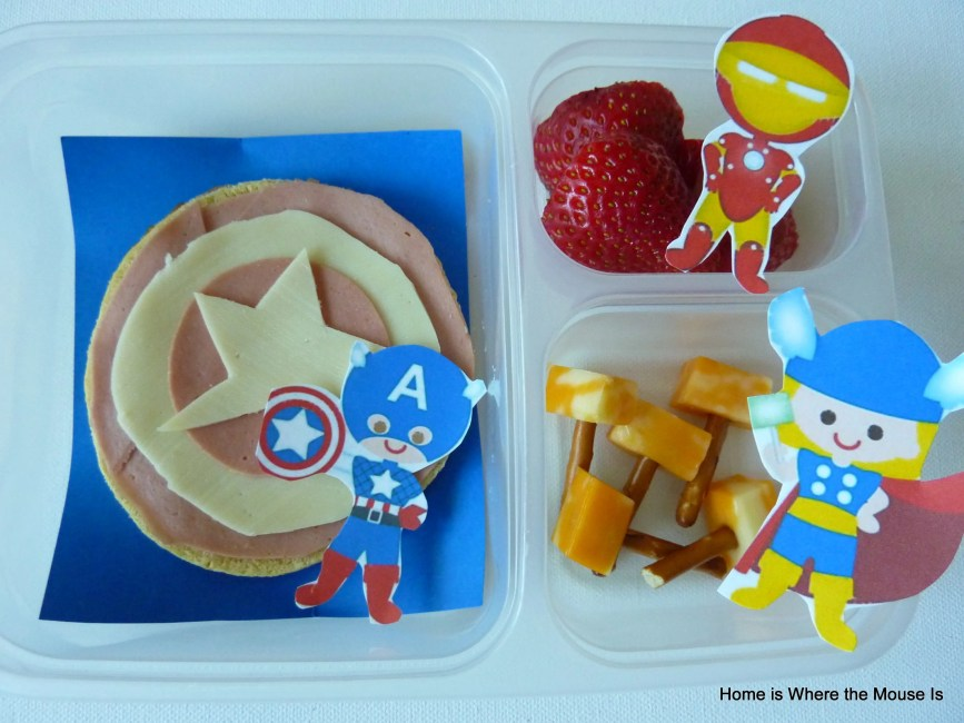 Avengers Themed Lunch