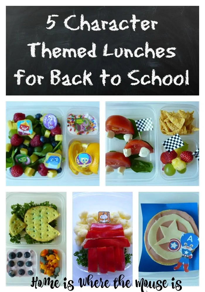 Character Themed Lunches