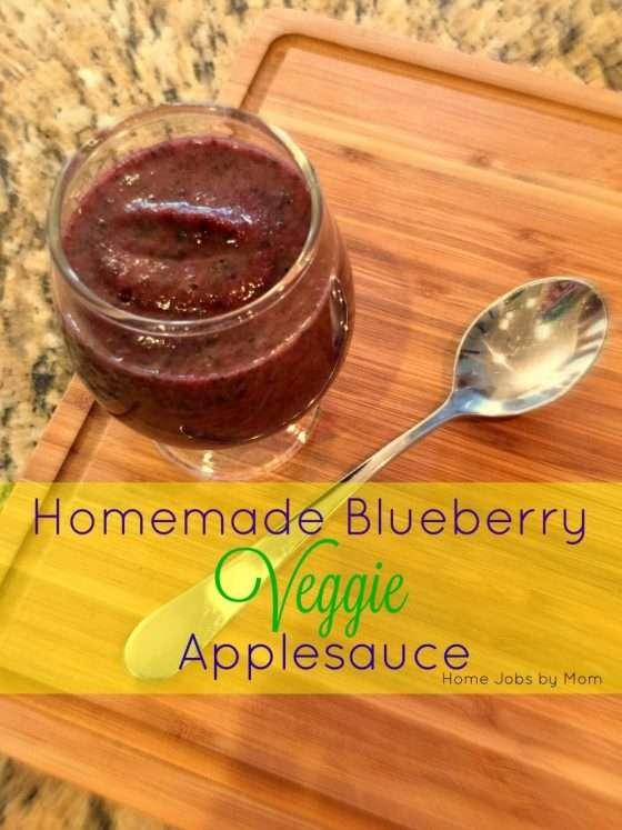 Homemade Blueberry Veggie Applesauce Recipe