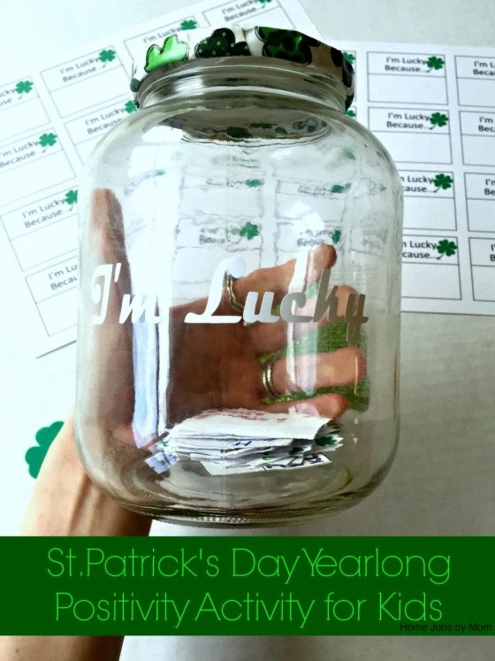 St. Patrick's Day Yearlong Positivity Activity for Kids + Free Printable