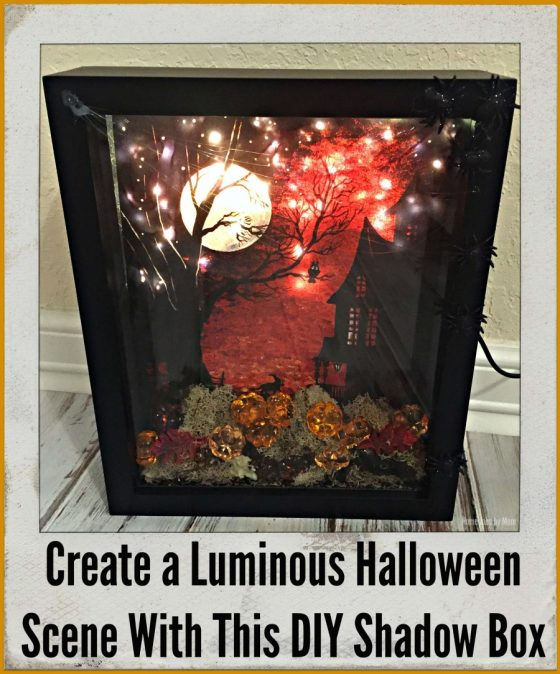 Create a Luminous Halloween Scene With This DIY Shadow Box #LTKholidayathome