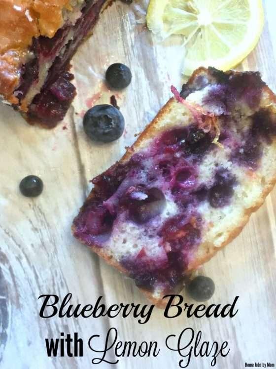 Blueberry Bread with Lemon Glaze #FortheChef #MomsMeet #megafood