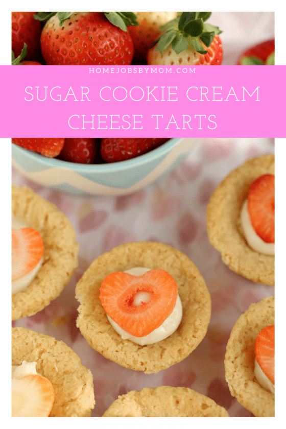 Sugar Cookie Cups With Cream Cheese Filling