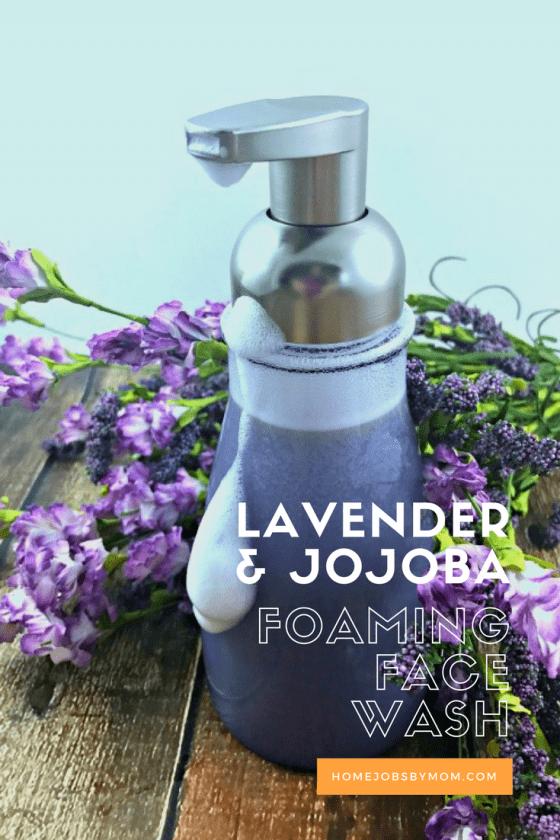 DIY Lavender and Jojoba Foaming Face Wash + My Differin® Gel Journey