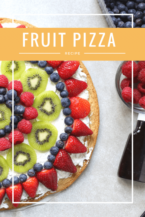 Fruit Pizza With A Sugar Cookie Crust