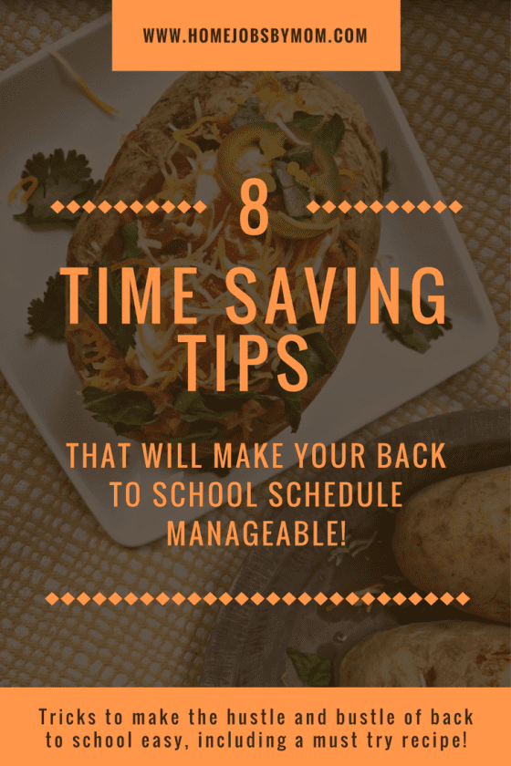 8 Time Saving Tips That Will Make Your Back to School Schedule Manageable