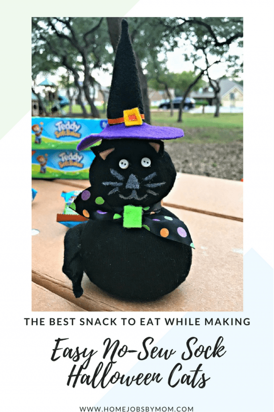 The Best Snack To Eat While Making Easy No-Sew Sock Halloween Cats