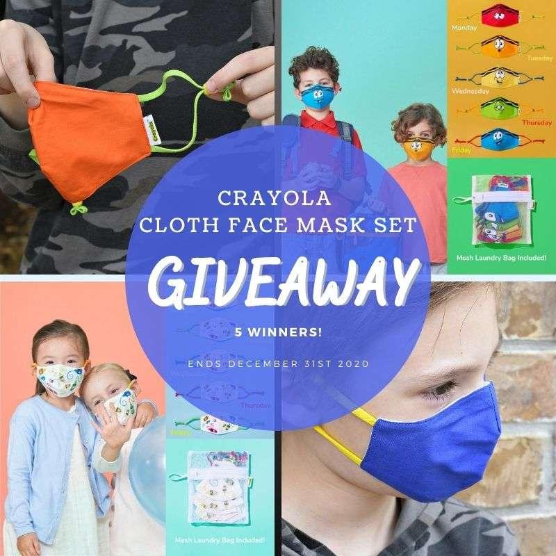 Crayola Cloth Face Mask Set Giveaway