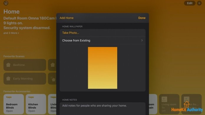 How to change wallpaper in HomeKit Home App