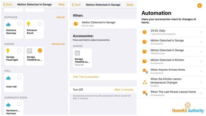 Home App for HomeKit flood light