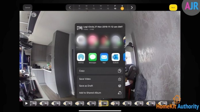HomeKit Secure Video sharing tab