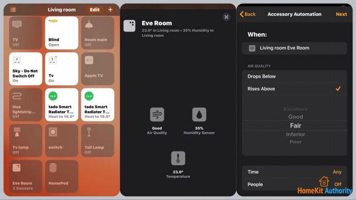 Eve room HomeKit