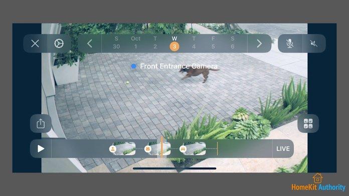 enable HomeKit Secure Video recordings timeline