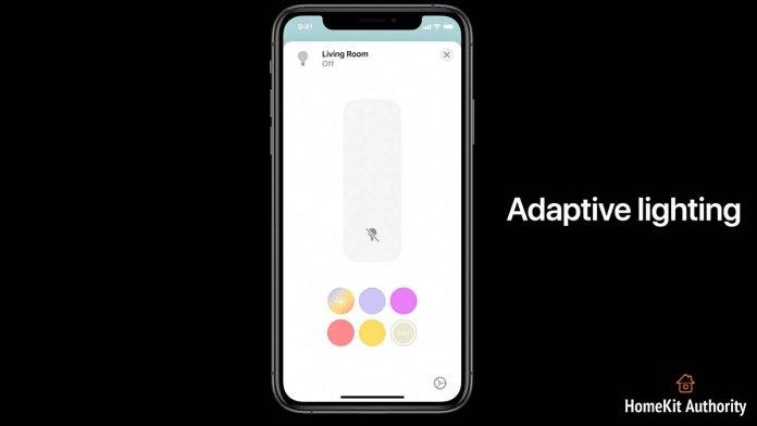 HomeKit iOS 14 adaptive lighting