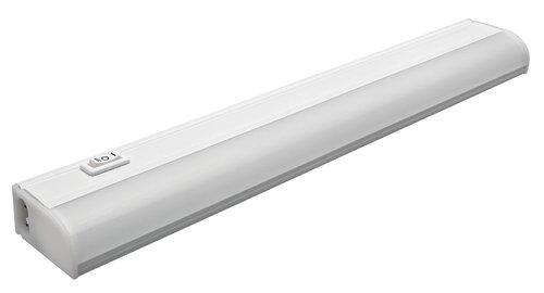 eti lighting 18 in 8w led under cabinet light w step dimming switch 500 lm 120v 3000k uc 18 8 830 sv