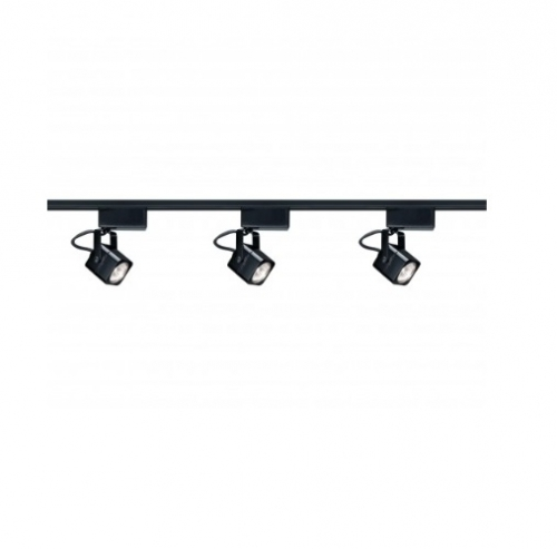 nuvo lighting 3 light mr16 track light kit square line voltage black tk311