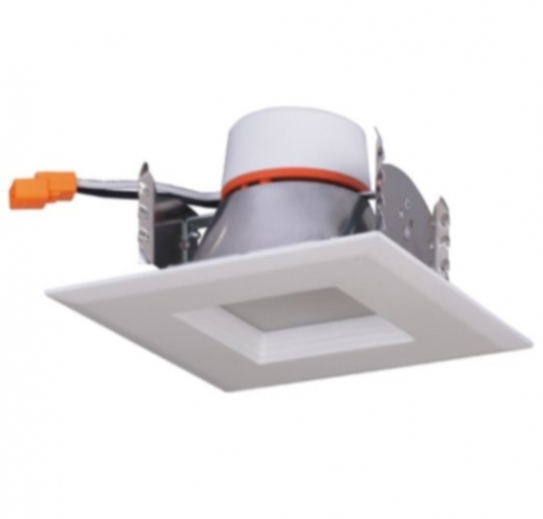 satco lighting 9w 4 led recessed retrofit downlight square trim dimmable 4000k s29758