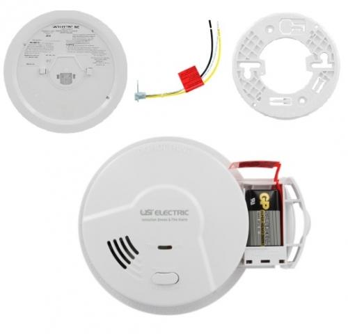 USI Electric Smoke Detector & Fire Alarm w Ionization