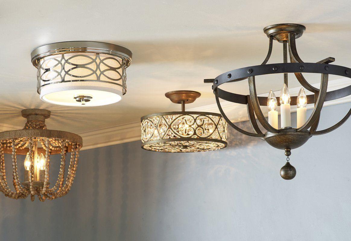 semi flush mounted light fixtures