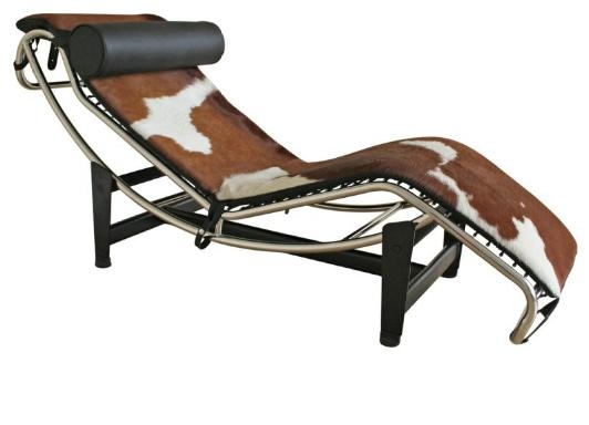 990A Brown & White Chaise - Wholesale Interiors