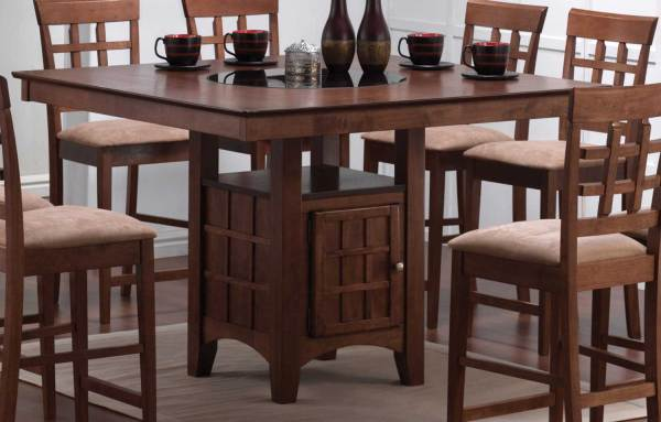 counter height storage dining table Coaster Mix and Match Counter Height Dining Table with