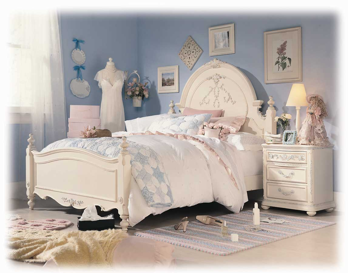 lea jessica mcclintock romance panel bed- furniture 203-9x0-2r at