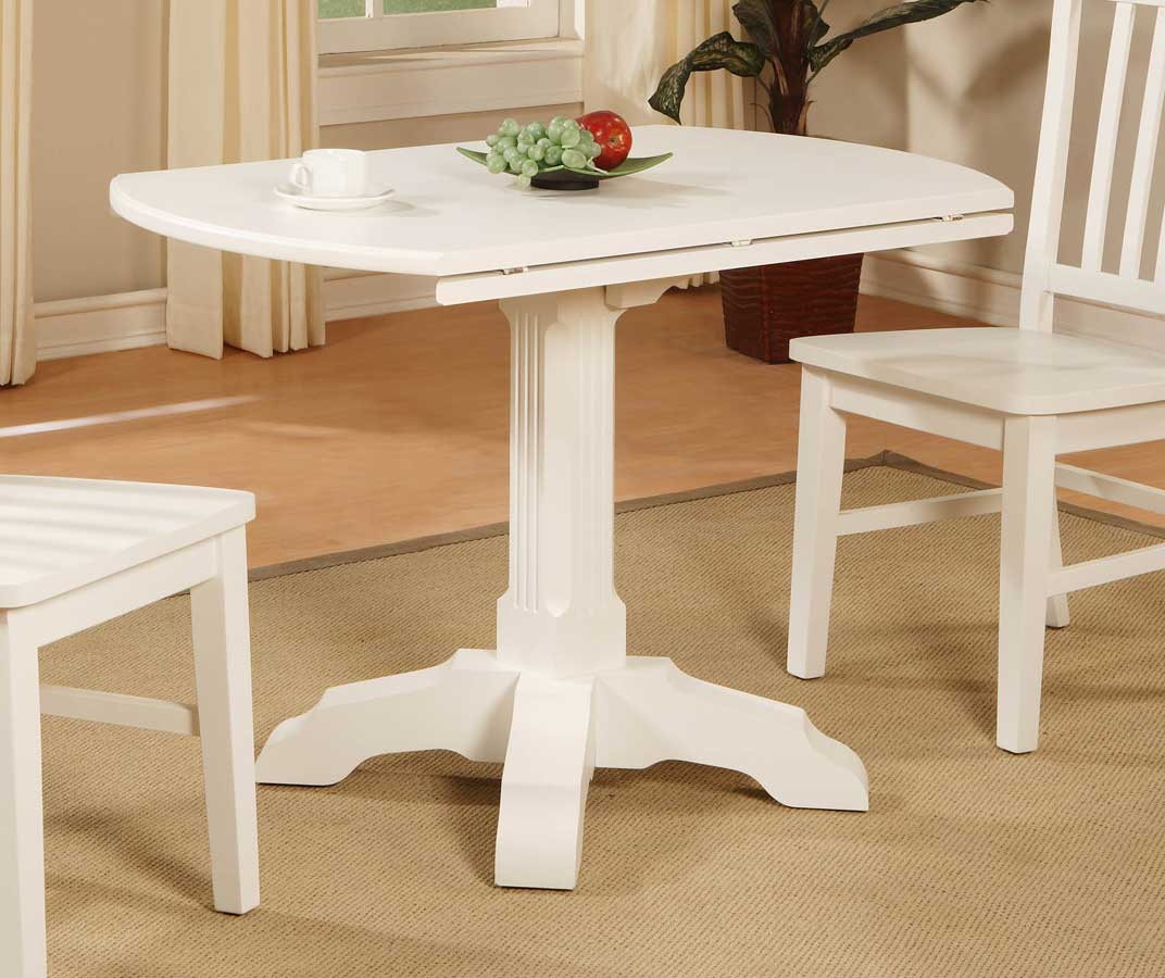 Powell Color Story Pure White Drop Leaf Bistro Table PW 270 405 At