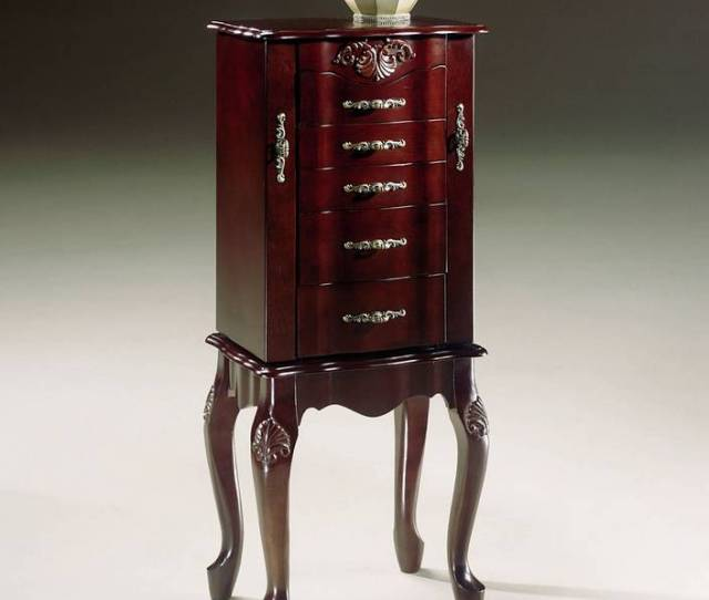 Powell Heirloom Cherry Jewelry Armoire