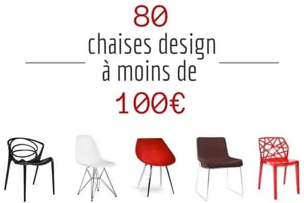 chaise design pas cher pour le salon