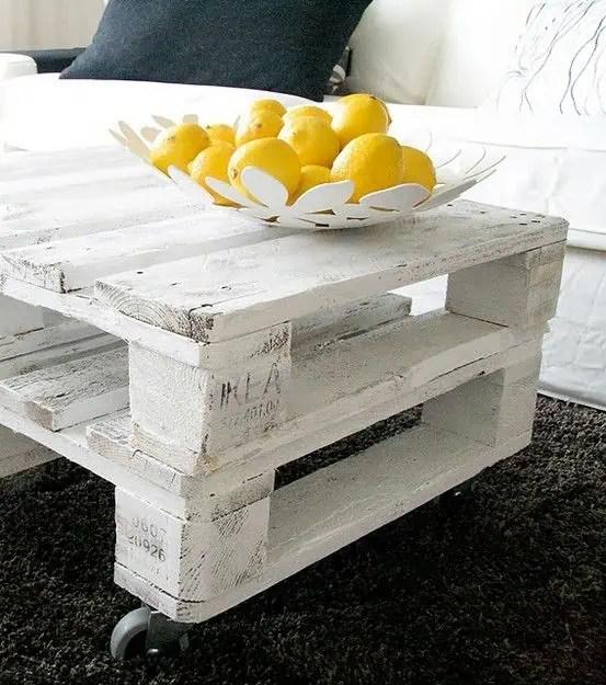 25 peinture pour recycler une table basse en palette