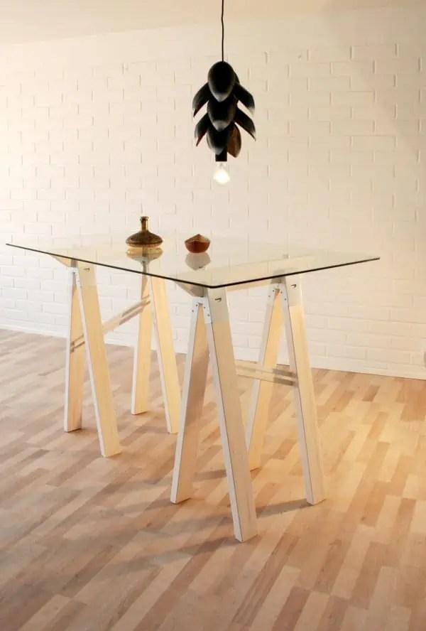 treteaux design  idees pour la table ou le bureau