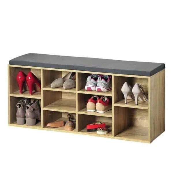 banc rangement a chaussures pour l entree meuble multifonctions