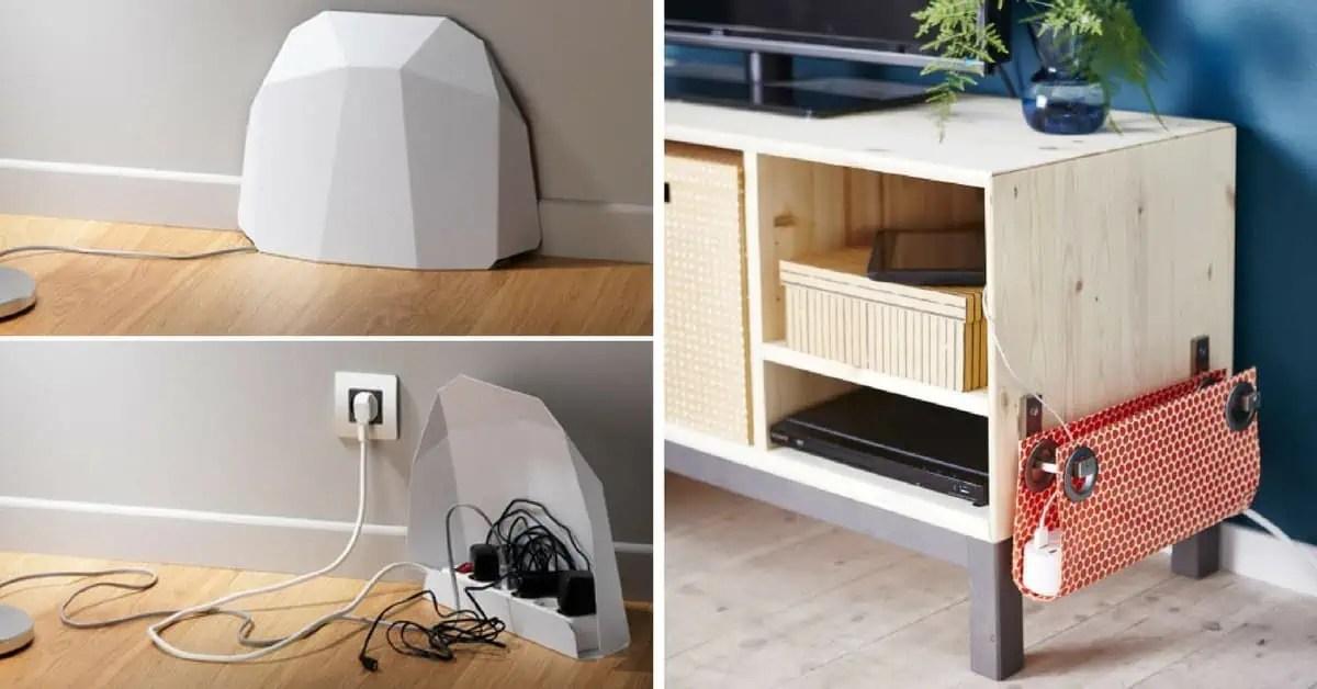 15 idees pour cacher et ranger vos cables fils et prises electriques