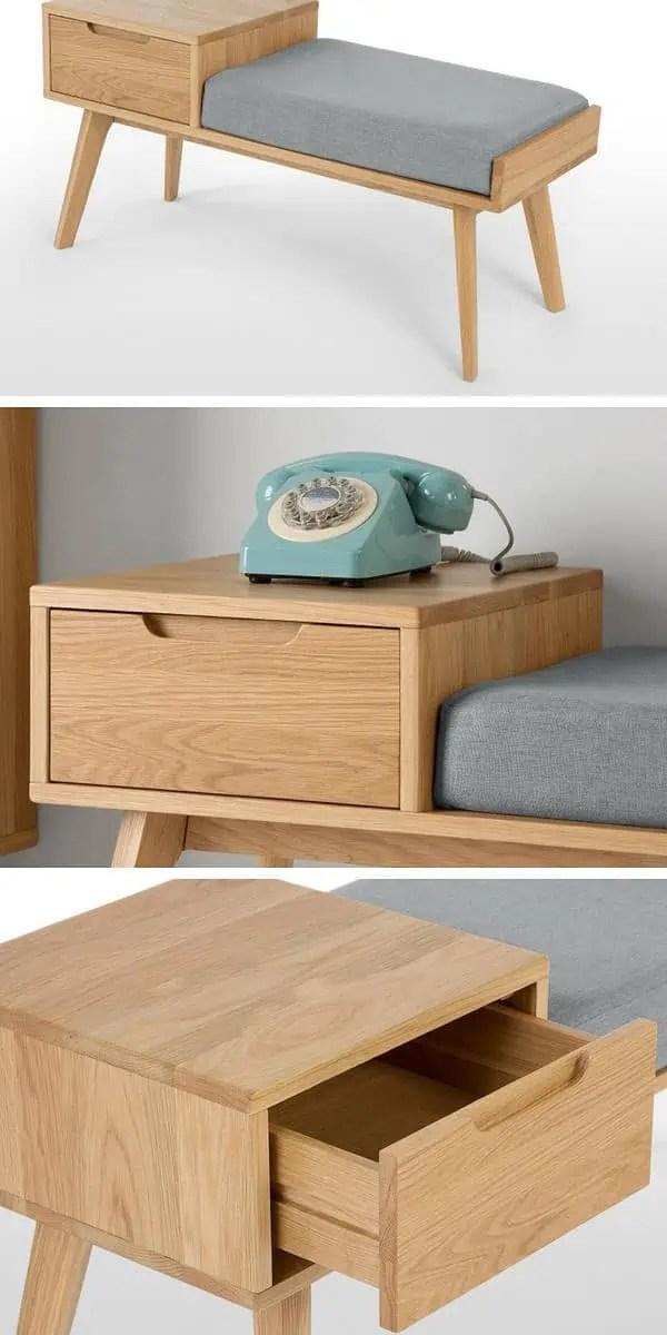meuble d entree design un banc pratique et confortable avec tiroir de rangement