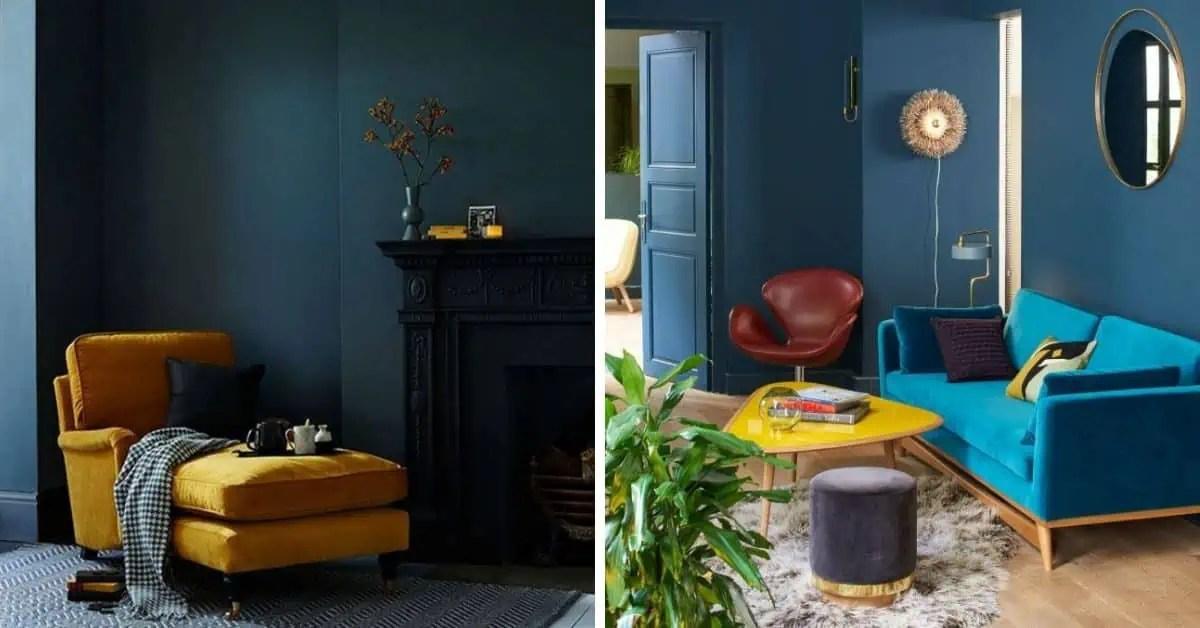 salon bleu et jaune 17 idees deco